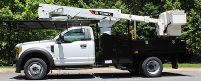 Terex LT40 rear mount aerial lift on Ford F-550 Chassis