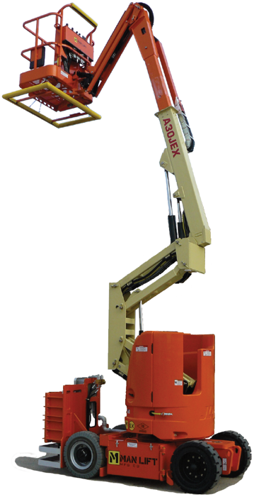 Man Lift A30JEX explosion proof articulating boom lift